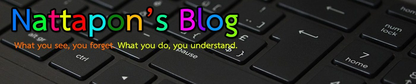 Nattapon's Blog